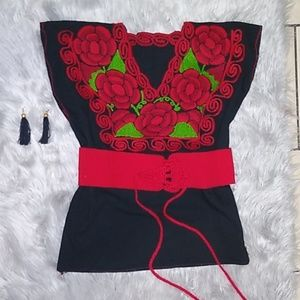 Beautiful Handmade blouse, made in mexico,